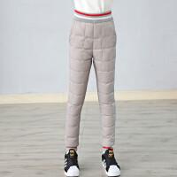 童装女童羽绒裤外穿2018新款中大童高腰羽绒裤修身90%白鸭绒潮