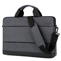 电脑包手提时尚韩版轻薄男13 14 15.6寸单肩斜挎笔记本包公文包