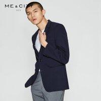 【1件3折价:146.7】MECITY男装时尚休闲小西服男修身西装外套潮流韩版