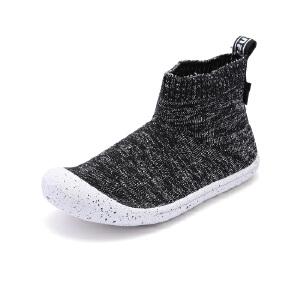 比比我童鞋男童软底休闲鞋2017秋季新款女童单鞋韩版透气袜子鞋潮