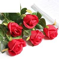 仿真玫瑰花束套装塑料花假花单支客厅装饰花绢花餐桌摆件花艺