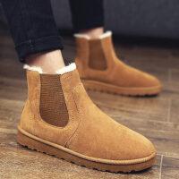 冬季保暖加绒雪地靴男士高帮男靴中帮棉靴棉鞋男鞋韩版潮流面包鞋srr