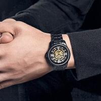 古尊男表男士手表男时尚镂空精钢带全自动机械表防水腕表16002