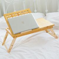简易笔记本电脑桌 实木懒人床上用 电脑桌 简约折叠书桌 实木电脑桌