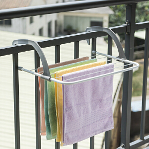 【满减】ORZ 50cm长灰色阳台晾晒架 窗外阳台晾晒架窗台晒鞋架折叠挂凉衣服架子窗户小型晾衣架