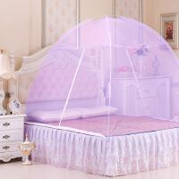 蒙古包蚊帐学生宿舍1.2米床免安装双人家用1.5m床1.8