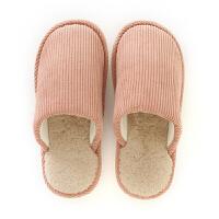 日式家居拖鞋女冬季室内地板保暖防滑棉拖鞋男情侣厚底居家用拖鞋
