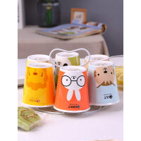 客厅水杯套装水具杯具可爱超萌马克杯简约咖啡杯杯子套装陶瓷家用 jk1