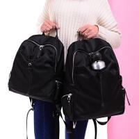 双肩包女男潮2018新款韩版帆布包背包学院风学生书包旅行包大包包