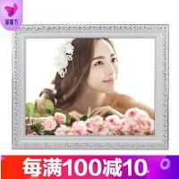 欧式实木相框挂墙照片框12 18 24 30 36寸婚纱照结婚照冲印照片品质保证
