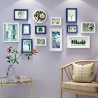 欧式实木照片墙装饰客厅卧室现代简约相框墙创意组婚纱沙发背景墙SN7463