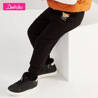 【4件2折后:61.8】笛莎女童宝宝棉裤冬装新款棉裤儿童长裤印花拉绒棉裤