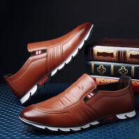 2018新款爆款韩版百搭男士休闲皮鞋商务休闲男青年驾车软底套脚男鞋子B33HDMY