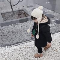 男女宝宝冬装羽绒棉衣中长款外套儿童装男童小童韩版 黑色 【建议拍大一码】