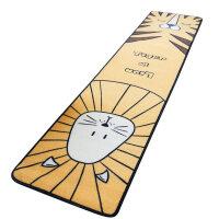 卡通长条地垫厨房卧室床边滑垫脚垫垫子韩式可爱家用雪尼尔地毯
