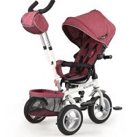 折叠儿童三轮脚踏车婴儿手推车男女小孩宝宝脚踏自行车童车