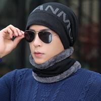 男士帽子冬季保暖针织帽冬天毛线帽护耳帽青年套头棉帽子