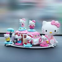 凯蒂猫汽车摆件摇头车载公仔KT猫可爱女生车内装饰品车载玩偶摆件