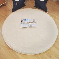 欧式长毛绒圆形卧室床边地毯床前毯满铺客厅茶几可爱地垫子