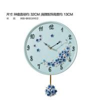 创意挂钟欧式客厅挂钟个性挂表圆形简约时钟静音钟表摆钟壁钟