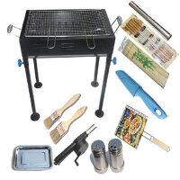 野外烧烤炉户外便携 烧烤架 可炸煎 家用木炭烤肉架炉子