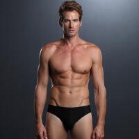 男士无痕内裤三角裤冰丝超薄一片式中腰性感透气速干内裤男