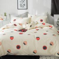 纯棉床上四件套2m被套床单被子4件套单双人床品1.5m1.8米床 1.8m(6英尺)床 被套200x230床笠款
