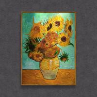 梵高沙发背景墙油画向日葵装饰画欧式花卉壁画北欧ins画玄关挂画