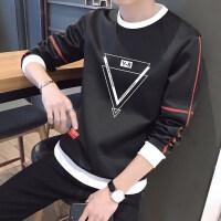 男士T恤长袖秋装男卫衣加绒2018秋冬季新款韩版潮流上衣服打底衫