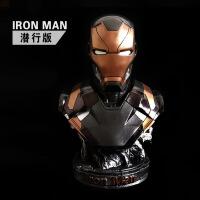 钢铁侠模型MK46雕像复仇者联盟3 漫威动漫影视周边大摆件胸像 现货精品彩色高36cm