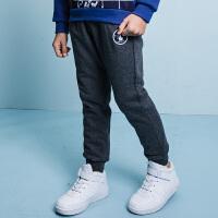 【3件3折:140.7元】暇步士童装冬季新款男童休闲裤双层加绒长裤儿童加绒长裤