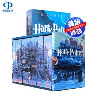 现货 哈利波特全集英文原版小说 Harry Potter 1-7册纪念版美版全套 7本套装 国外经典书籍 进口正版图书