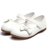 儿童皮鞋女公主鞋花童礼服小皮鞋白色女童演出单鞋学生平底鞋