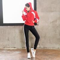 大码胖mm200斤宽松秋冬季运动套装女健身房速干衣晨跑跑步瑜伽服