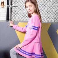 【秒杀价:119元】暇步士女童新款童装中大童时尚印花连衣裙儿童秋装时尚裙子