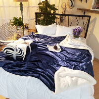 法兰绒单双层加厚毛毯秋冬季单双人空调毯珊瑚绒ins毯子沙发被子