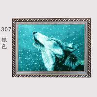 实木欧式500片1000片拼图框油画框外框挂墙简约客厅钻石画框定制