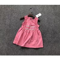 纯元欧美童装裙子女童夏季薄款橡皮粉背心裙宝宝夏款裙子纯棉