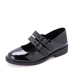 Belle/百丽2018春季新品玛丽珍鞋人造革浅口女单鞋97808AQ8