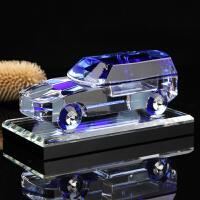 水晶车模礼品车饰 致炫越野车香水座表台创意摆件SUV