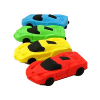 迷你 小巧立体 跑车造型橡皮擦 可拆卸 橡皮擦 4个价钱 颜色随机