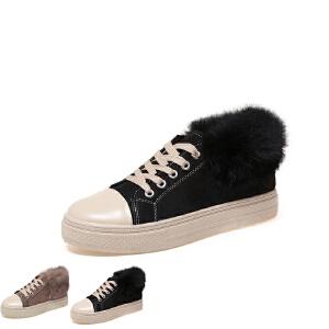 WARORWAR新品YM155-K52秋冬休闲平底舒适女士靴子短靴马丁靴