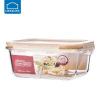 乐扣乐扣耐热玻璃饭盒保鲜盒便当盒密封碗大容量微波炉烤箱可用 740ml【长方形】