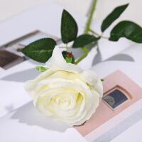 仿真玫瑰花假花家居客厅装饰干花餐桌摆件牡丹花束婚庆花瓶插花艺