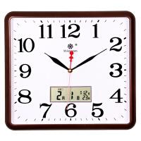 方形电子挂钟客厅静音钟表家用个性创意时尚艺术日历石英钟挂墙上
