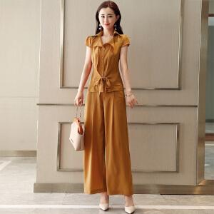 风轩衣度 套装/套裙2018年夏季舒适修身纯色都市气质韩版简约 2278-1878