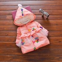 反季女宝宝加绒外套婴幼儿百搭加厚棉衣儿童周岁女童公主棉衣