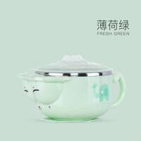 儿童餐具辅食碗不锈钢吸盘碗宝宝注水保温碗婴儿碗勺套装