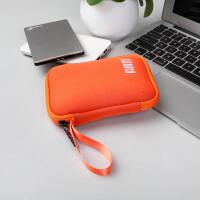 移动硬盘收纳包数据线充电器宝耳机U盘U盾保护套袋盒子 西部1T东芝2T500G索尼1配件便携