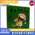 进口原版 Fa La La 圣诞唱歌 培养宝宝行为习惯系列 纸板书【2~5岁】